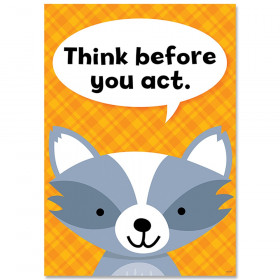 Think before you act Woodland Friends Inspire U Poster
