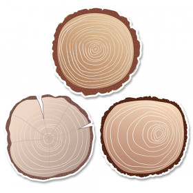 "Woodland Friends Wood Slices 6"" Designer Cut-Outs, 36/Pack"