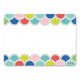Poppin Scallops Name Tag Labels