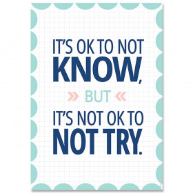 It's OK to not know... Calm & Cool Inspire U Poster
