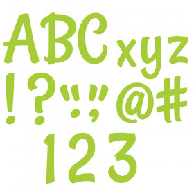 Lime Green Punch-Out Letters 4 In Stylish