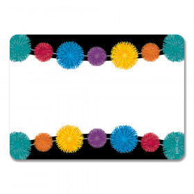 Pom-Poms Name Tag Labels, 36/Pack