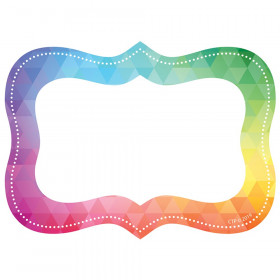 Rainbow Mosaic Labels, Pack of 36