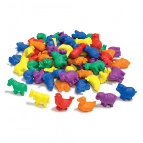 Farm Animals Counters, Set of 72