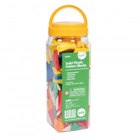 Plastic Pattern Blocks, Set of 250