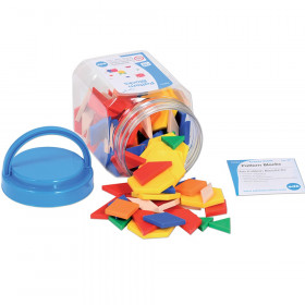 Pattern Blocks - Mini Jar, 120 Pieces