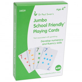Jumbo School Friendly Playing Cards
