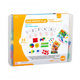 Early Math101 to go - Ages 3-4 - Number & Measurement - In Home Learning Kit for Kids - Homeschool Math Resources with 25+ Guided Activities