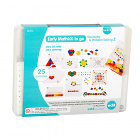 Early Math101 to go - Ages 4-5 - Geometry & Problem Solving - In Home Learning Kit for Kids - Homeschool Math Resources with 25+ Guided Activities