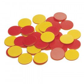 Two-Color Counters, Plastic, Set of 200
