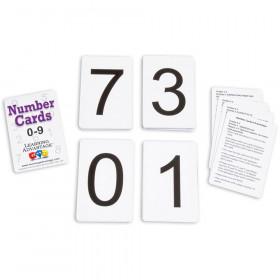 Number Cards 0 Thru 9 Black