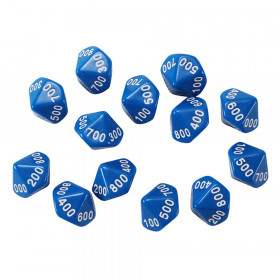 Place Value Dice, Hundreds, Set of 12