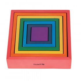 Wooden Rainbow Architect Squares