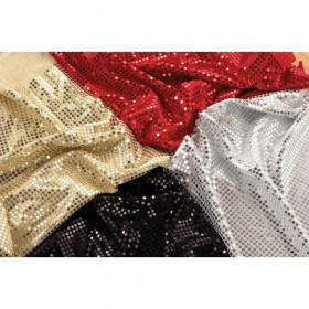 Sequins Fabric, 3.3' x 3.2', 4 pieces