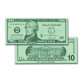 $10 Bills Set, Set of 100