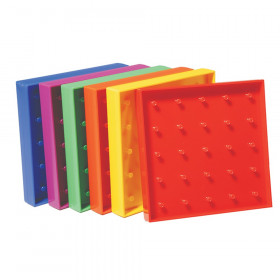 "5"" Plastic Geoboards, 5 x 5 Pin Array"