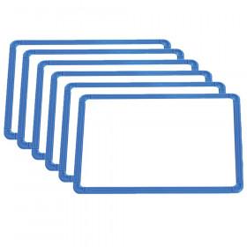 """Magnetic Plastic Framed Whiteboards, 9.5"""" x 13"""", Set of 6"""