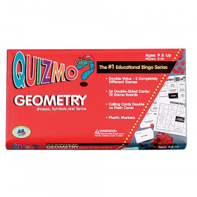 Quizmo Game: Geometry - Shapes, Symbols and Terms, Grades 4-8