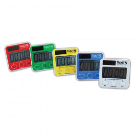Dual Power Timer, Assorted Colors, Set of 5