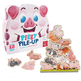 Piggy Pile-Up - Fast-Paced Stacking and Balancing Game - For Ages 3+ - Place All Your Pigs on the Pile to Win