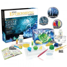 Wild Science Environmental Science - Crystal Growing Caves & Geodes Chemical Kit