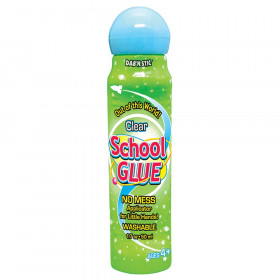 Crafty Dab'N Stic Non-Toxic Odorless School Glue, 1.75 oz Bottle, Dries Clear, Pack of 6