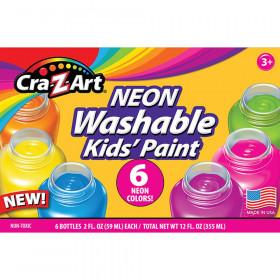 Washable Neon Paint, 6 Count