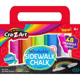 Washable Triangle Sidewalk Chalk Set, 48 Pieces