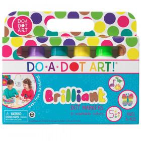 Washable Brilliant Dot Markers, 6 Colors