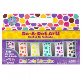 Mini Island Bright Dot Markers, 6 Colors