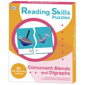 Reading Skills Puzzles, Consonant Blends & Digraphs