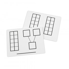 Didax Write-On/Wipe-Off Ten-Frame Mats, Set of 10