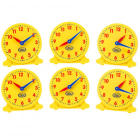 "5"" Student Clocks, Set of 6"