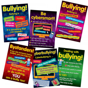 Bullying in a Cyber World 6-Poster Set, Grades 2-5