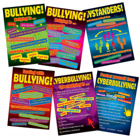 Bullying in a Cyber World 6-Poster Set, Grades 5-8