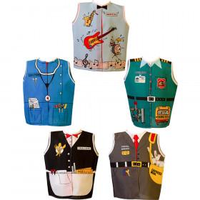 Toddler Dress-Ups Career Set 2 Bus Driver/Server/Postal/Dr/Musicia