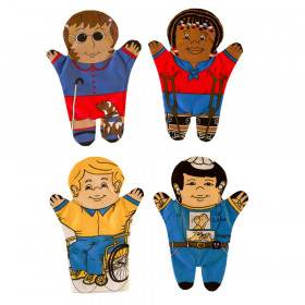 Special Needs Hand Puppets, Set of 4