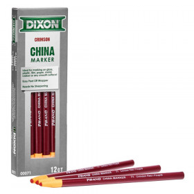Phano China Markers, Crimson Red, Pack of 12