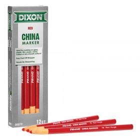 Phano China Markers, Red, Pack of 12