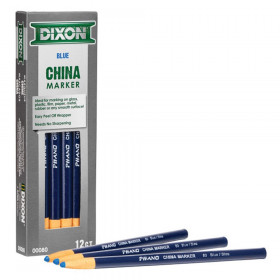 Phano China Markers, Blue, Pack of 12