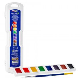 Professional Watercolors, 8-Color Half Pan Set with Brush