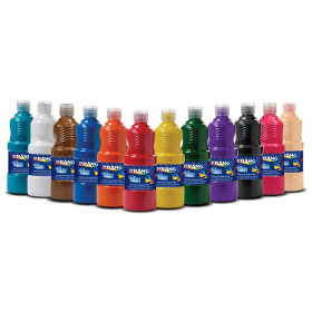 Washable Tempera Paint, Assorted Colors, 12 Count