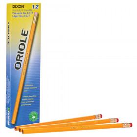 Pencils, No. 2.5 Medium Yellow, Unsharpened, Box of 12