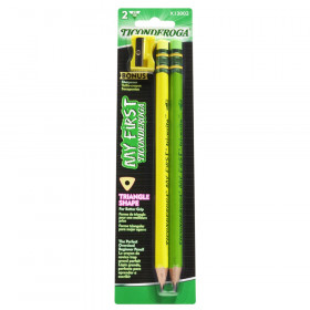 My First Tri-Write Wood-Cased Pencils, Neon Assorted, 2 Count