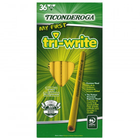 My First Tri-Write Primary Size No. 2 Pencils without Eraser, Box of 36