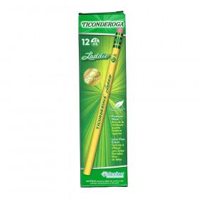 Ticonderoga Laddie Pencils with Eraser, 12/pkg