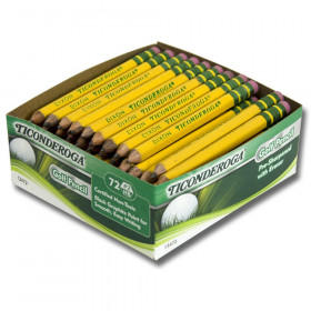Ticonderoga Golf Pencils Box Of 72
