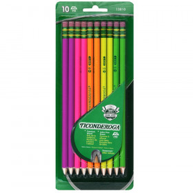 Ticonderoga Premium Neon Wood Pencils, Pack of 10