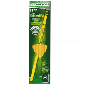 Ticonderoga tri-write Pencils, 12/pkg