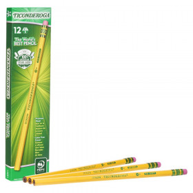 Original Ticonderoga Pencils, No. 1 Extra Soft Yellow, Unsharpened, Box of 12